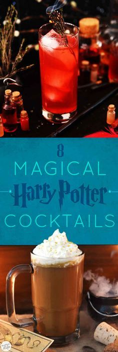 8 Magical And Delicious Harry Potter Cocktails (because I will have a Harry Potter themed party one day – J.E) —> 8 Magical And Delicious Harry Potter Cocktails Party Drinks, Fun Drinks, Yummy Drinks, Beverages, Harry Potter Cocktails, Harry Potter Food, Comida Diy, Master Chef, Non Alcoholic