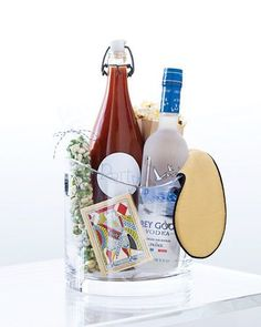 bloody mary gift basket - in an ice bucket | #alcoholic cocktail gifts