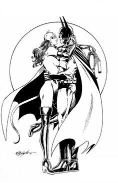 Batman & Catwoman by Bob Layton
