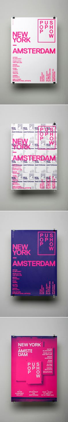New York / Amsterdam — Pop Up Show posters by OK200 , via Behance