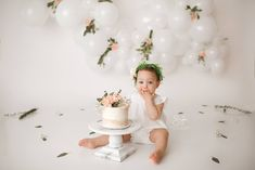 the perfect simple girly cake smash