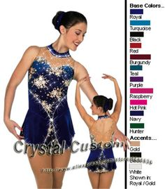 Aliexpress.com : Buy Beautiful Girls Ice Skating Dresses  With Spandex Graceful New Brand Figure Skating Competition Dress Custom DR2668 from Reliable dress european suppliers on Crystal Professional Custom Figure Skating Dresses Store