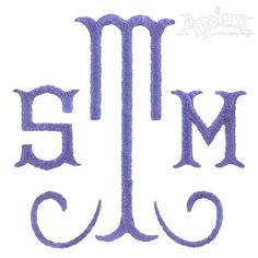 Aa  Two Letter Monogram Machine Embroidery Design In  Sizes