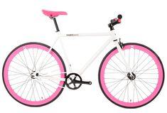 FabricBike Fixed Gear & Single Speed Bikes Pink Bike, Speed Bike, Fixed Gear Bike, Fuchsia, Rear Brakes, Aluminum Wheels, Cycling Bikes, Cool Bikes, Gears