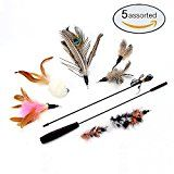 #RankBoosterReview for Cat Toys Interactive Feather Teaser Wand Toy Set with 5 Refills Feathers Bird Ca...  - Blog Booster