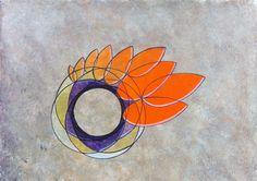 """Arte """"Queimada"""" obra geométrica abstrata em acrílico sobre papel do artista plástico brasileiro Quim Alcantarahttp://quim.com.br/arte/queimada"""