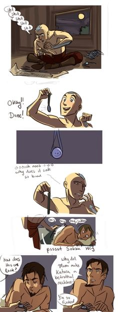 Aang Makes a Betrothal Necklace.   (ln response to this post)