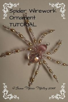 Relaxing Hobby For Women - Hobby Lobby Christmas Pictures - Hobby And Crafts - Wire Spider, Spider Art, Spider Crafts, Beaded Crafts, Wire Crafts, Jewelry Crafts, Christmas Spider, Halloween Christmas, Christmas Things