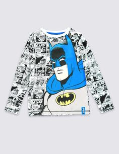 Pure Cotton Batman™ Comic T-Shirt (1-8 Years)