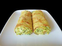 Crêpe con zucchine patate e fontina