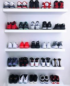 sneaker storage storage ideas Super sneakers head storage Ideas Sideboards: Essential f Shoe Room, Shoe Wall, Shoe Closet, Sneaker Storage, Shoe Storage, Storage Ideas, Sneaker Rack, Sneaker Regal, Adidas Cheap