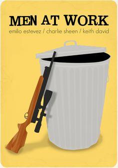 Men at Work (1990) ~ Minimal Movie Poster by Molly Madfis #amusementphile