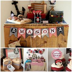 Pirate Themed Birthday Party with So Many Awesome Ideas via Kara's Party Ideas | KarasPartyIdeas.com #PirateParty #PartyIdeas #Supplies (1)