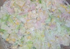 Hawaii saláta, ahogy én készítem   Lencse Éva receptje - Cookpad receptek Hawaii, Guacamole, Dessert Recipes, Food And Drink, Salad, Ethnic Recipes, Salads, Hawaiian Islands, Desert Recipes