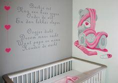 Me to You wandschildering en muurtekst van een lief babykamer gedichtje. Kan naar wens aangepast worden door BIM Muurschildering.