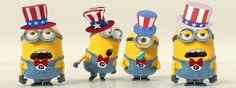 Celebrate Happy-4th-of-July-Minion  。◕‿◕。 See my Despicable Me Minions pins https://www.pinterest.com/search/my_pins/?q=minions