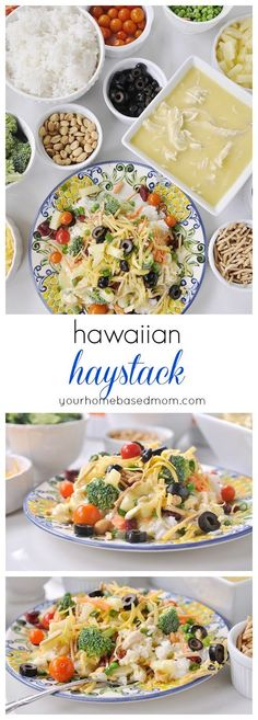 The whole family will love Hawaiian Haystacks. They get to choose the toppings they love!