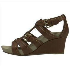 Earthies  Shoes - EARTHIES Brown Wedges