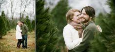 Christmas tree farm photo session - winter anniversary session - Jenna Henderson, Photographer