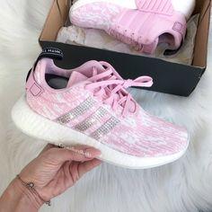 4ec05c1c5ab5 Swarovski Adidas Nmd Runner R2 Pink Made with SWAROVSKI® Xirius Rose  Crystals - White Pink Icy Pink