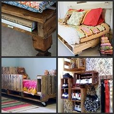 I begin to wonder when fabulous ideas like this will simply sweep all existing pallets away until they are no longer to be had...