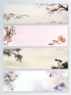 Fondo de banner paisaje tinta estilo chino Scenery Background, Banner Background Images, Retro Background, Landscape Background, Background Templates, Paper Background, Background Patterns, Calligraphy Background, Plan Image