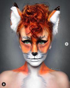 Fox Makeup, Animal Makeup, Witch Makeup, Halloween Inspo, Halloween Makeup, Fox Costume Womens, Fox Face Paint, Fantasy Make Up, Maquillaje Halloween
