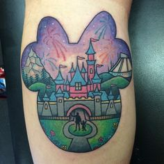 Disney tattoo by @melaniemilnetatoos #disney #disneyland