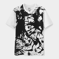 UNIQLO Jackson Pollock White Splatter T-shirt | MoMAstore.org