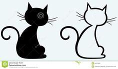 gatos dibujos silueta - Buscar con Google
