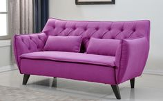 Mid Century Modern Tufted Linen Fabric Accent Living Room Loveseat *** Learn more by visiting the image link.