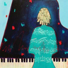 Adagio in Blue- Acrylic/Collage A Night To Remember, Rhythm And Blues, Soul Sisters, Beautiful Mind, Figure Painting, Figurative, Lady In Red, Mystic, Darth Vader