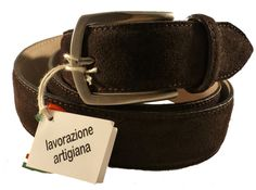 own suede leather belt for men, Florentine leather