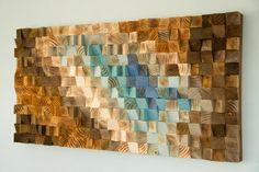 Holz Wall Art Sculpture Wandbehang Skulptur zurückgefordert
