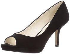 Buffalo London 111-1354 KID SUEDE, Damen Peep-Toe Pumps, Schwarz (BLACK 01), 38 EU: Amazon.de: Schuhe & Handtaschen