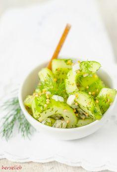 Schüttelgurken - schneller Gurken-Salat