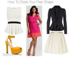 How to dress pear shape