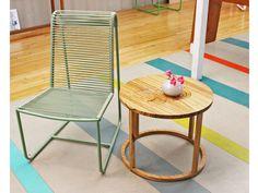 Sleek metal-and-vinyl outdoor furniture from Ilan Dei Studios in Venice.