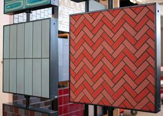 Heath Ceramics herringbone tile pattern