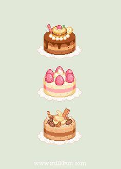 milkbun by milkbun Pixel Art Food, Cool Pixel Art, Anime Pixel Art, Food Art, Cake Drawing, Food Drawing, Food Illustrations, Illustration Art, 8bit Art