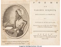 Books:Literature Pre-1900, Phillis Wheatley. Poems on Various Subjects, Religiousand Moral. By Phillis Wheatle...