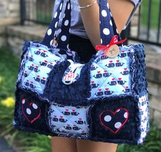 A personal favorite from my Etsy shop https://www.etsy.com/listing/541641949/diaper-bag-nautical-bag-travel-bag