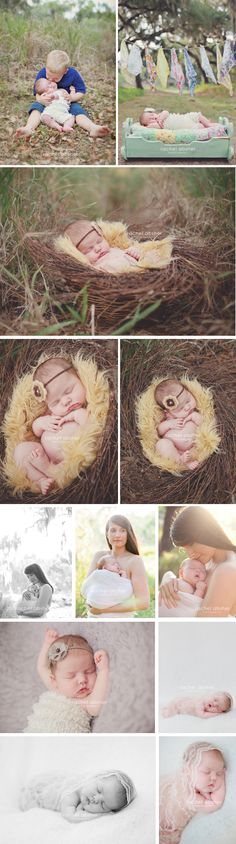 Love the basket with the wreath on top - got to try it- Love the mama & baby pics!