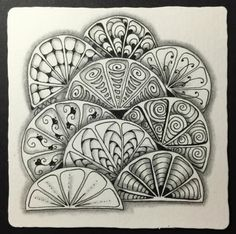 """Home of Certified Zentangle® Teacher Adele Bruno's """"It's a String Thing""""- a weekly tangled adventure. Tangle Doodle, Tangle Art, Zen Doodle, Doodle Art, Zentangle Drawings, Doodles Zentangles, Doodle Drawings, Doodle Designs, Doodle Patterns"""
