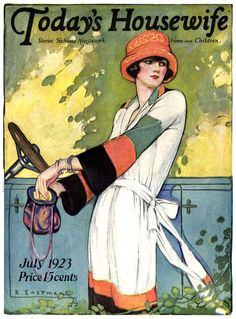 Vintage Magazine Cover - Artist Ruth Eastman -  July 1923