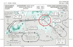 Flying pattern and Instrument Landing System (ILS) around the former Hong Kong's Kai Tak Airport approach. Aviation Charts, Kai Tak Airport, Map Diagram, Air Photo, Private Plane, Aircraft Photos, Commercial Aircraft, Civil Aviation, School