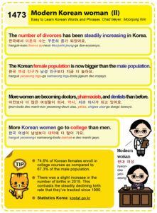 Easy to Learn Korean 1473 - The modern Korean woman (part two).