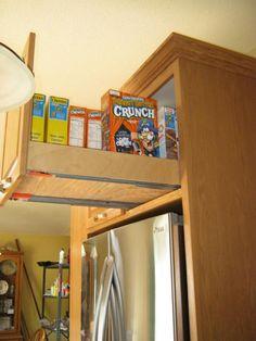 e50566b5daffe16fb65803918199de4e--temporary-storage-in-the-bat Shelving Above Fridge Kitchen Ideas on windows above fridge, lighting above fridge, cabinets above fridge, baskets above fridge,