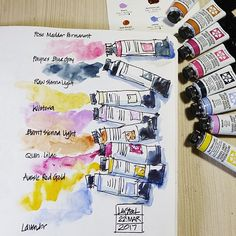 First play with the new Daniel Smith colours - has anyone else tried them? (any of them?) what do you think? Follow link in bio to see my first sketch with them. #danielsmithwatercolors #danielsmithnewcolors2017