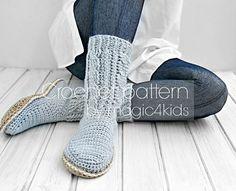 Crochet boots pattern crochet slippers all women por magic4kids